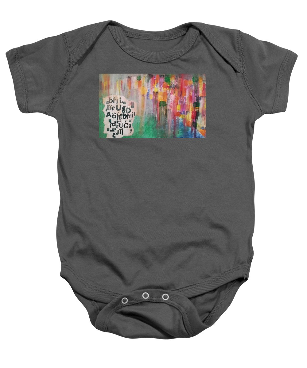 Mixed Media Baby Onesie featuring the painting Be Different by Vanja Skrobica