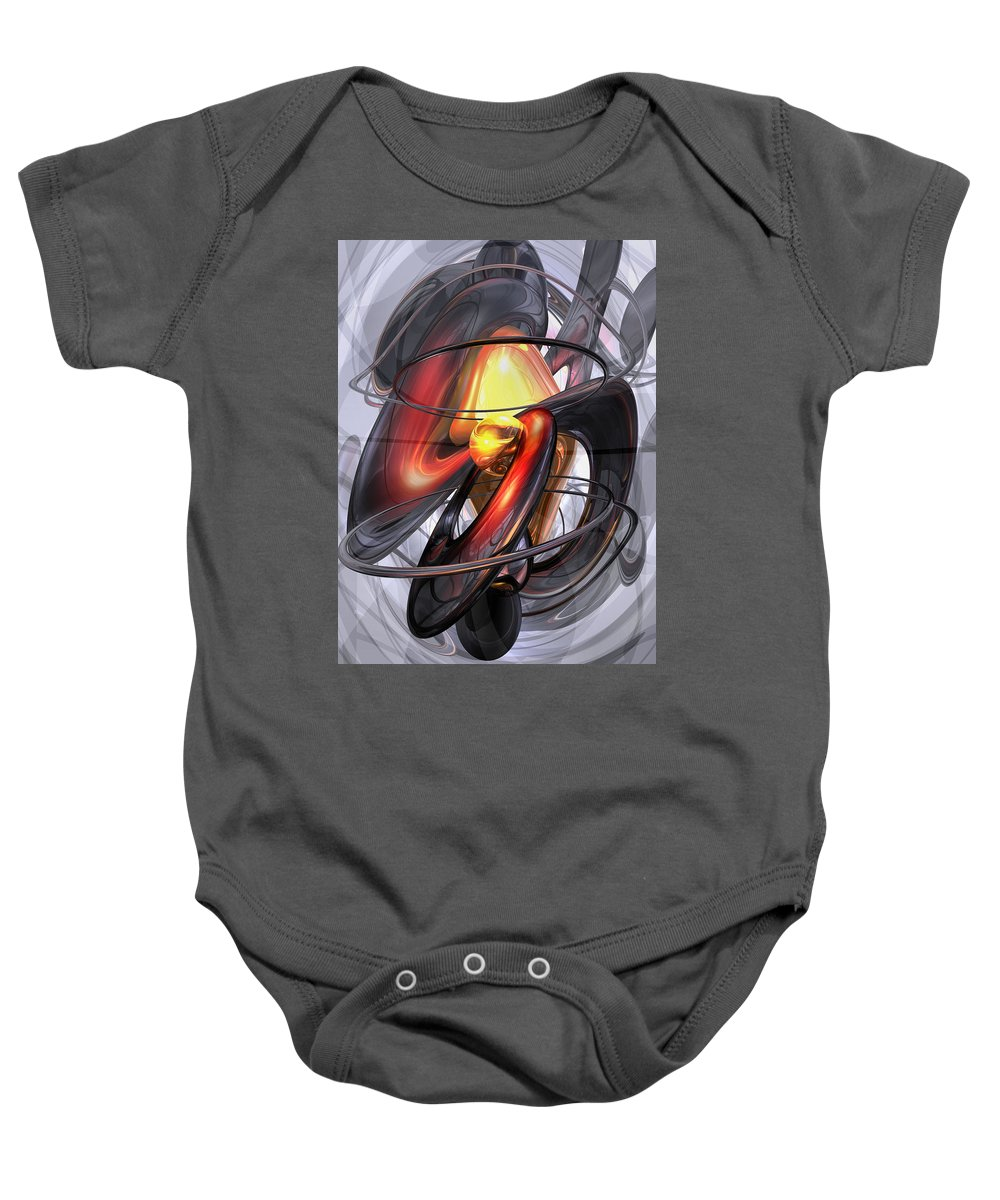 3d Baby Onesie featuring the digital art Vengeance Abstract by Alexander Butler