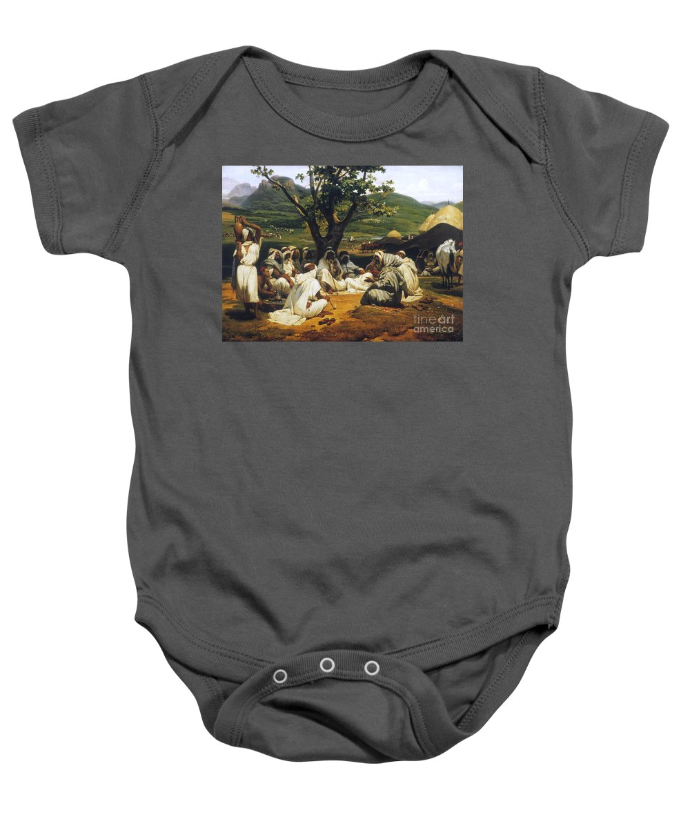 1833 Baby Onesie featuring the photograph Vernet: Arab Tale-teller by Granger