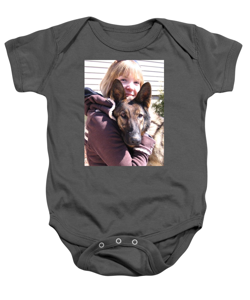 Daughter Baby Onesie featuring the photograph Vero Et Foxy by Line Gagne