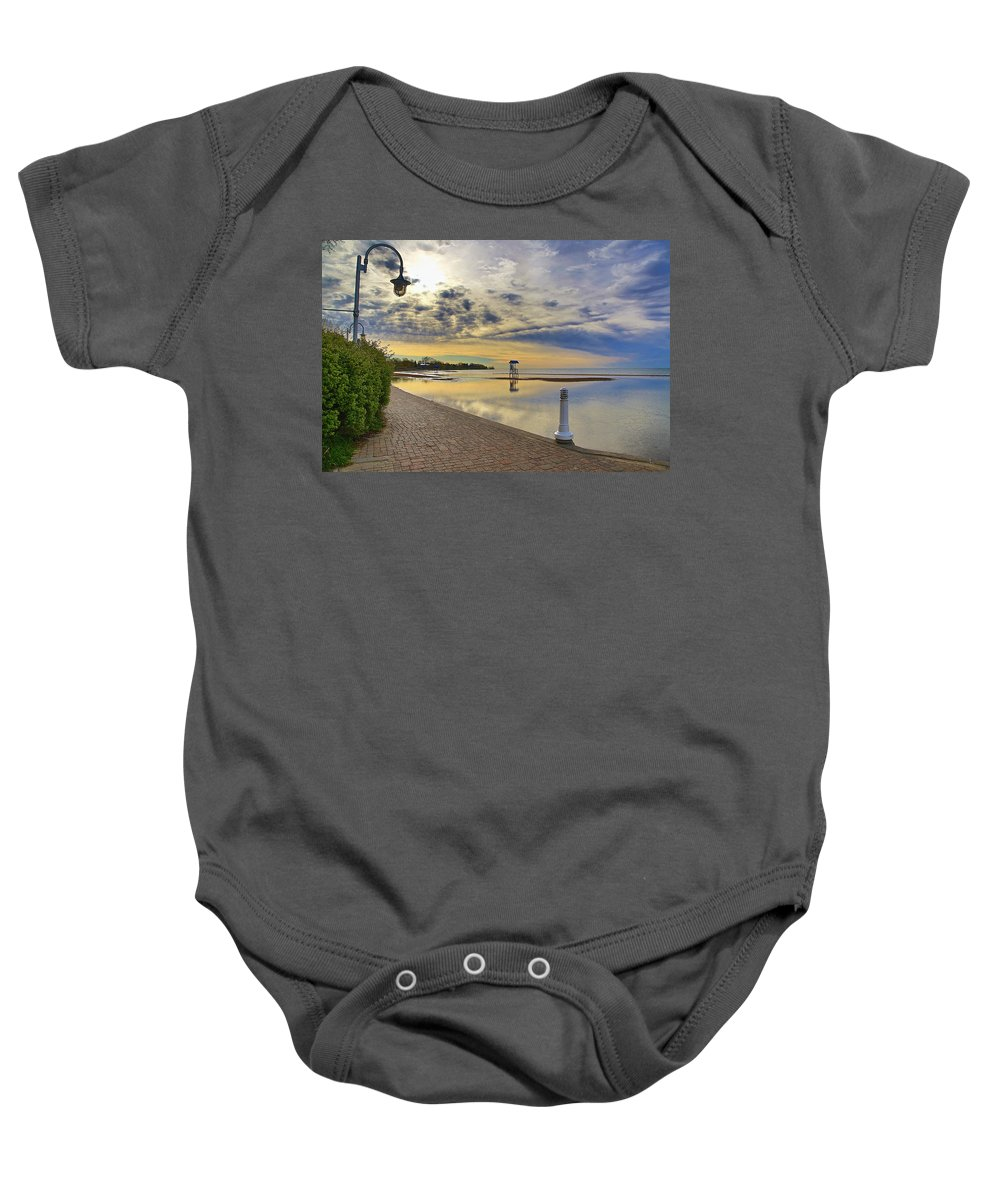 Beach Baby Onesie featuring the photograph Victoria Beach Early Morning by Alasdair Gillespie