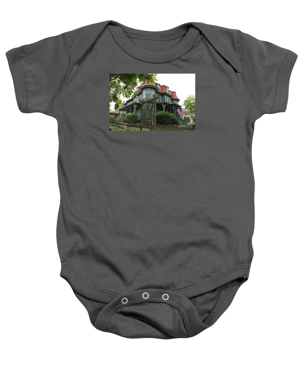 Victorian Guesthouse Baby Onesie featuring the photograph Victorian Guesthouse by Christiane Schulze Art And Photography