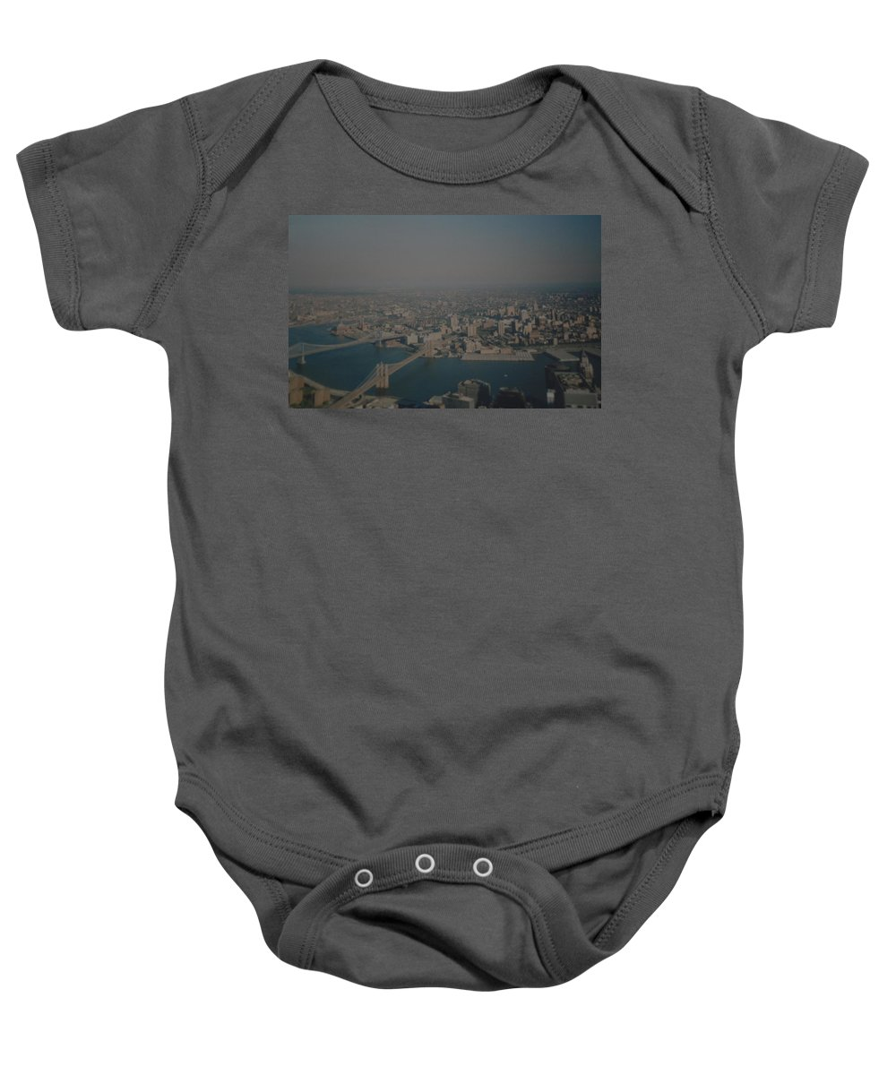 Wtc Baby Onesie featuring the photograph View From The W T C by Rob Hans