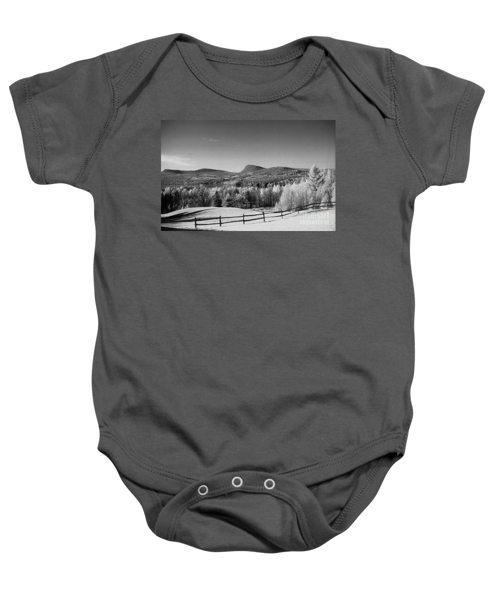 Landscape Baby Onesie featuring the photograph View Of Lake Willoughby by Richard Rizzo