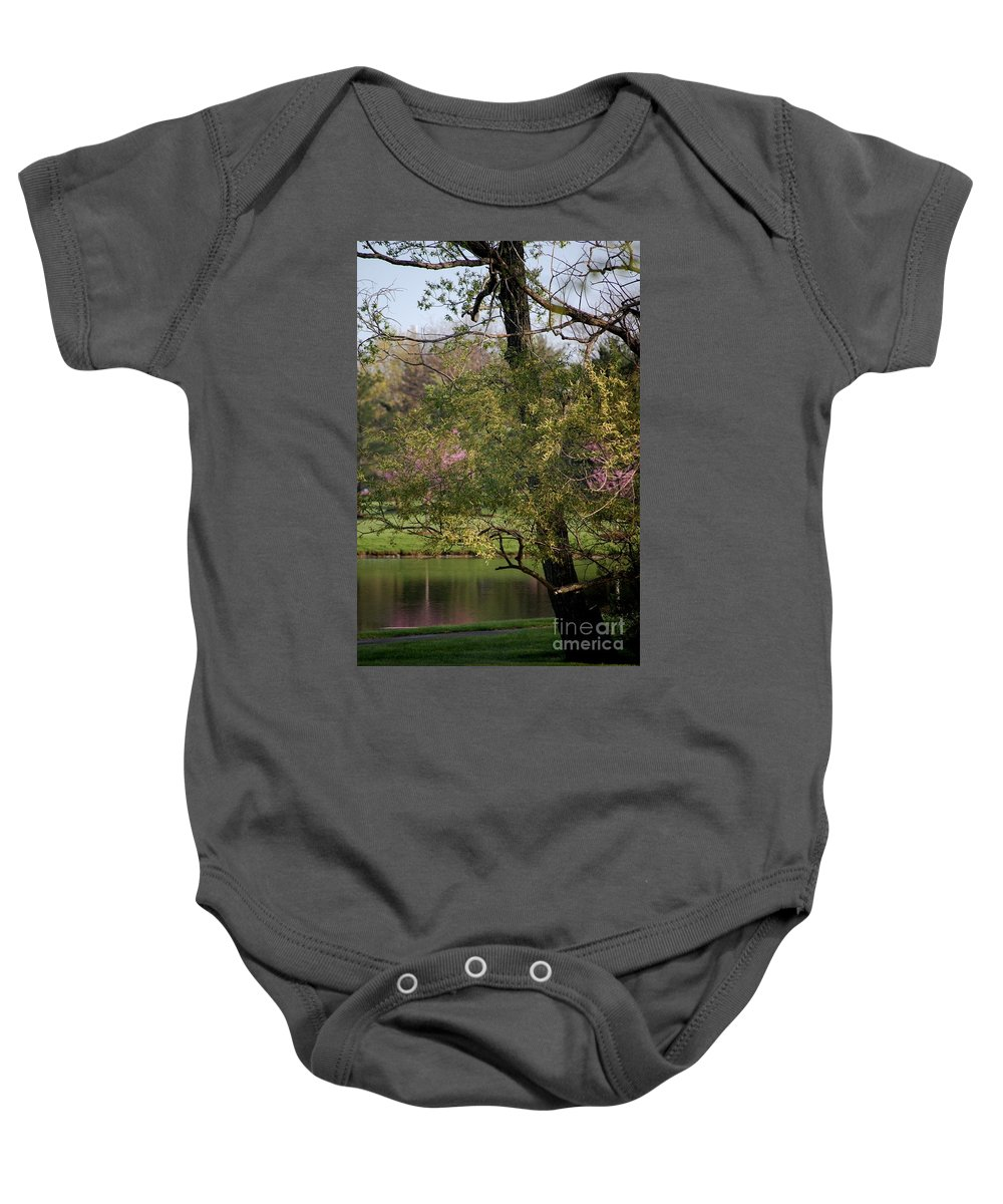 Landscape Baby Onesie featuring the photograph View Out My Office Window. by David Lane