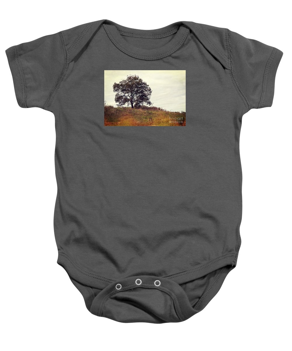 Autumn Baby Onesie featuring the photograph Vintage Autumn by Gary Richards