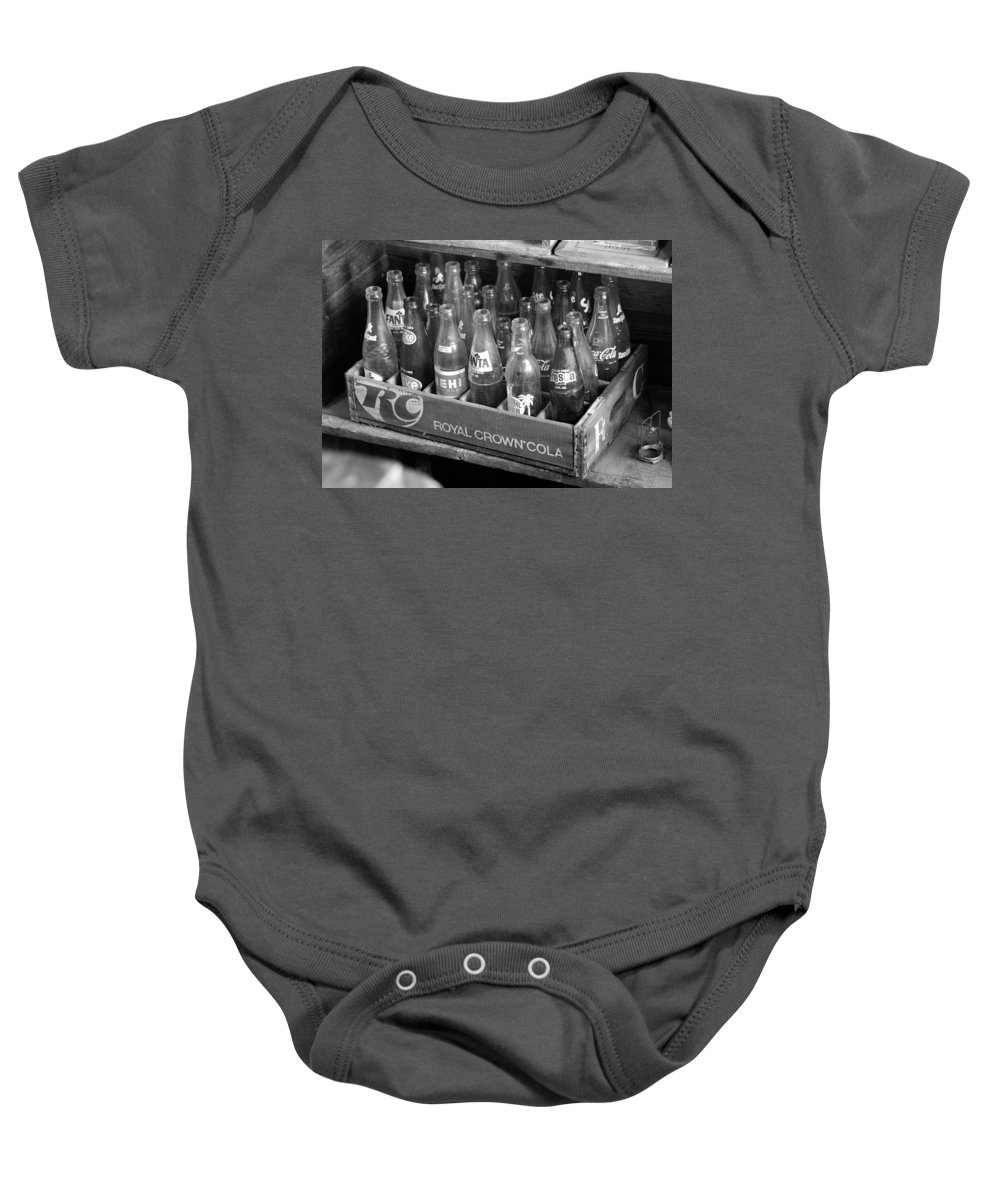 American Sodas Baby Onesie featuring the photograph Vintage Soda Case by David Lee Thompson