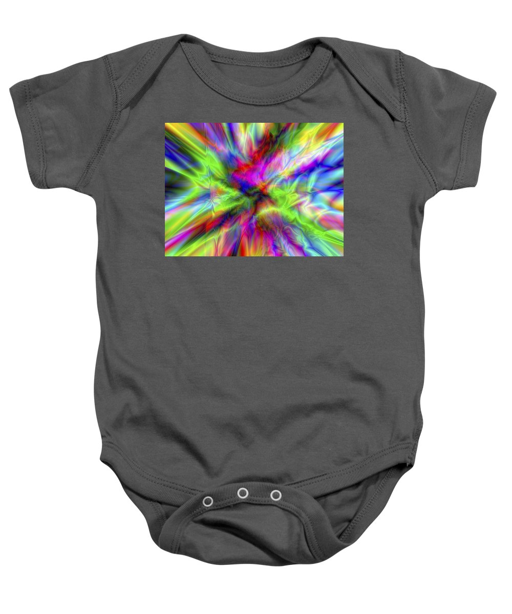 Colors Baby Onesie featuring the digital art Vision 1 by Jacques Raffin