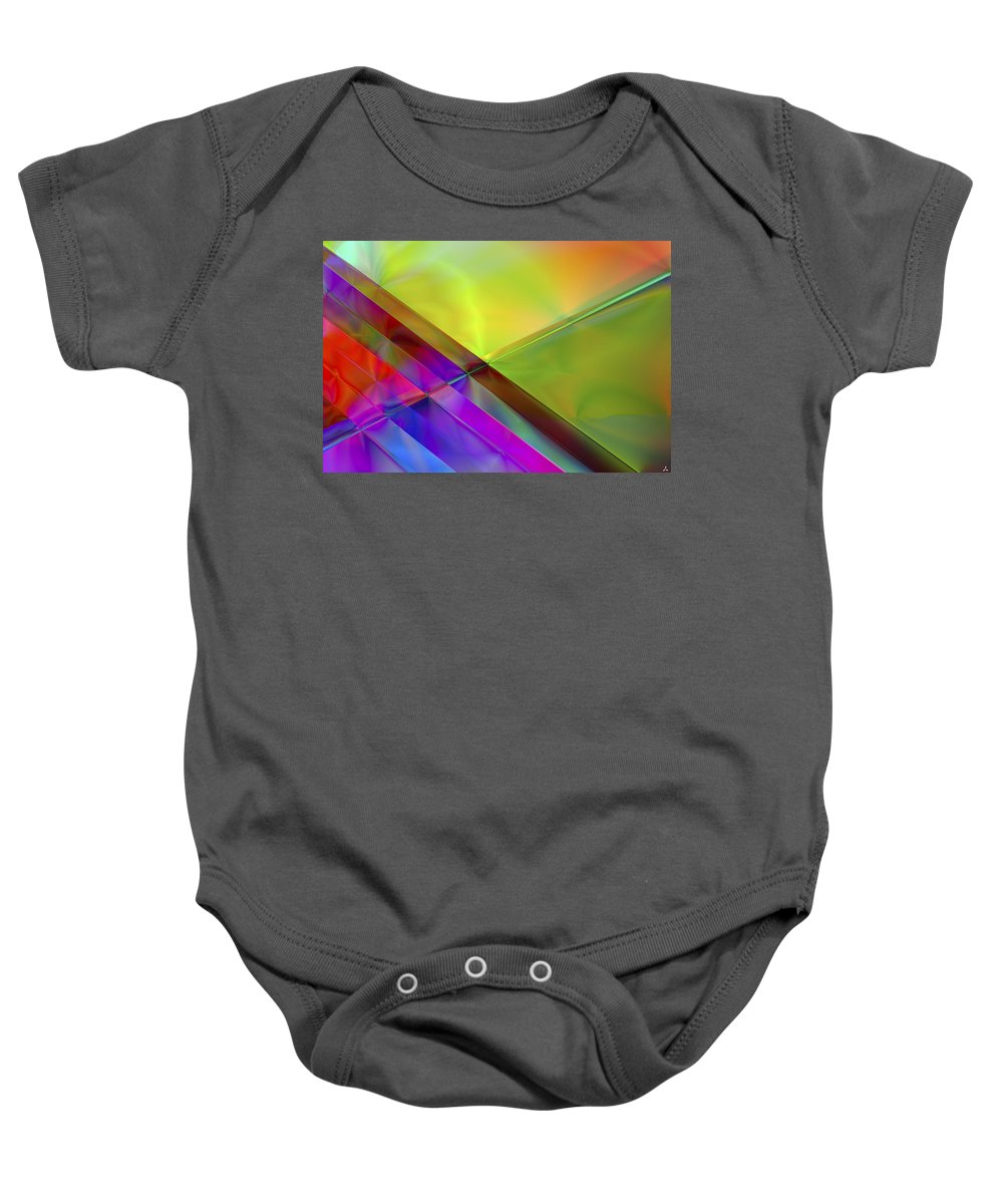 Colors Baby Onesie featuring the digital art Vision 3 by Jacques Raffin