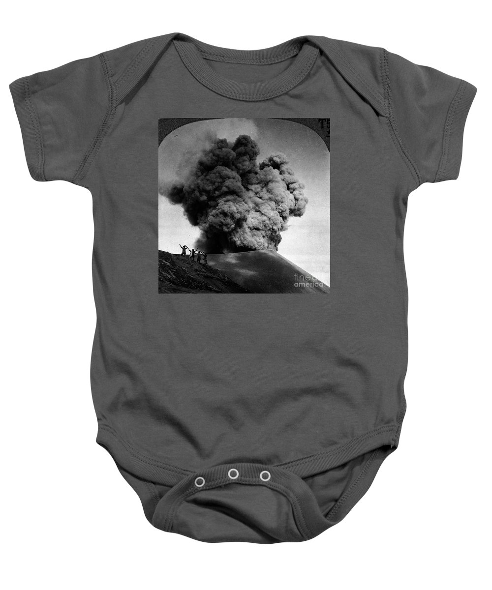 1910 Baby Onesie featuring the photograph Volcano: Java, 1910 by Granger