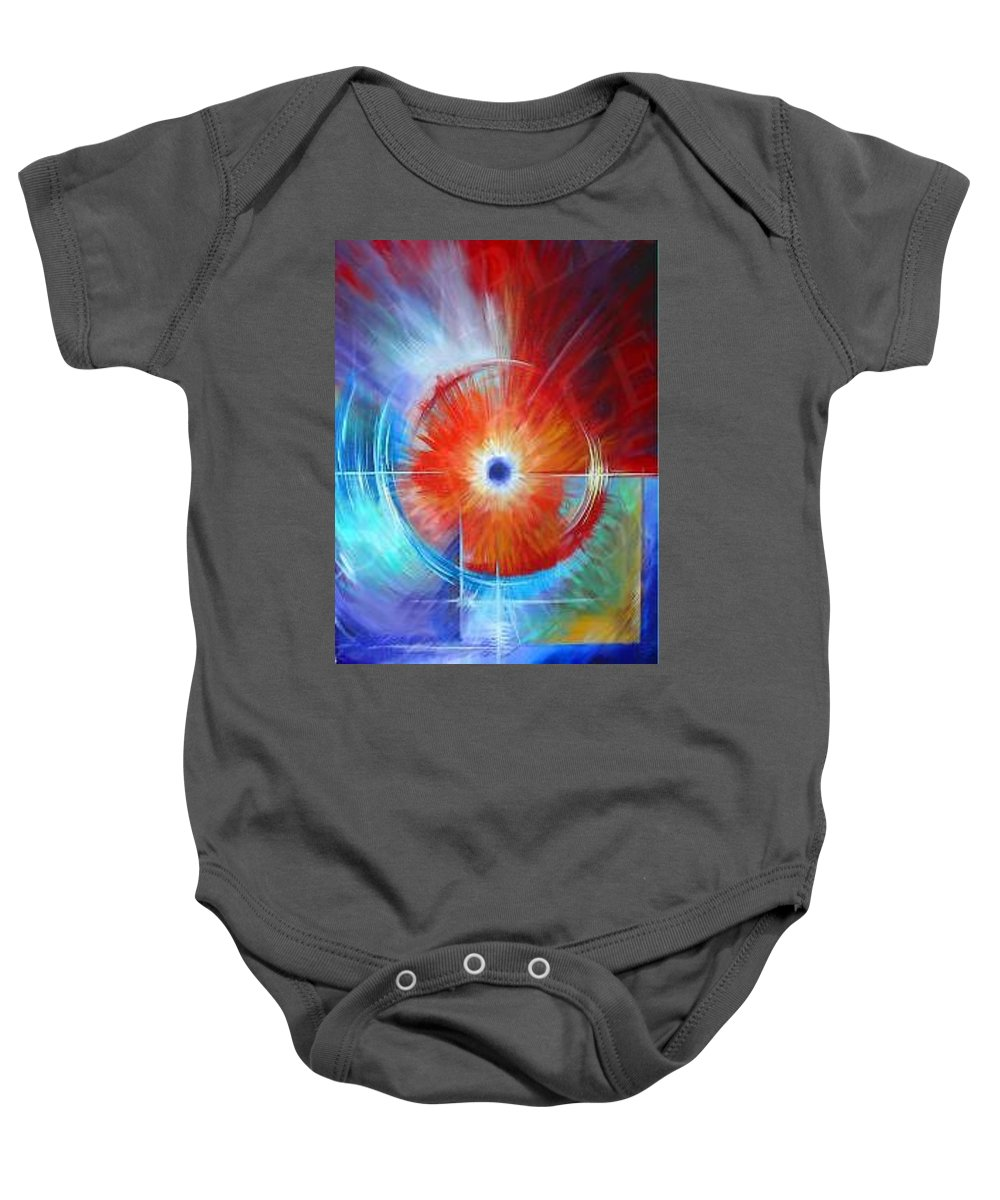 Clouds Baby Onesie featuring the painting Vortex by James Christopher Hill