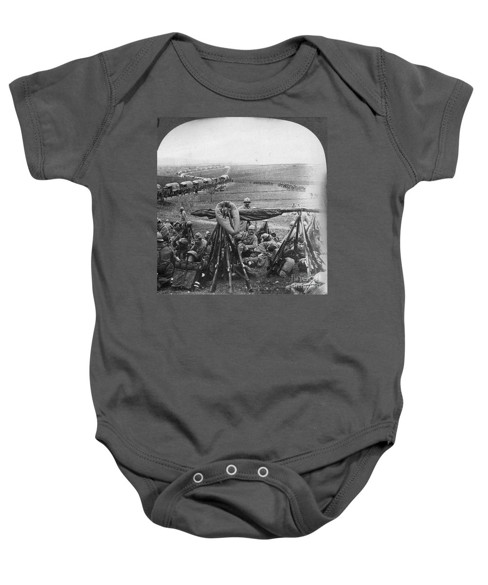 1916 Baby Onesie featuring the photograph W W I: Battle Of Verdun by Granger