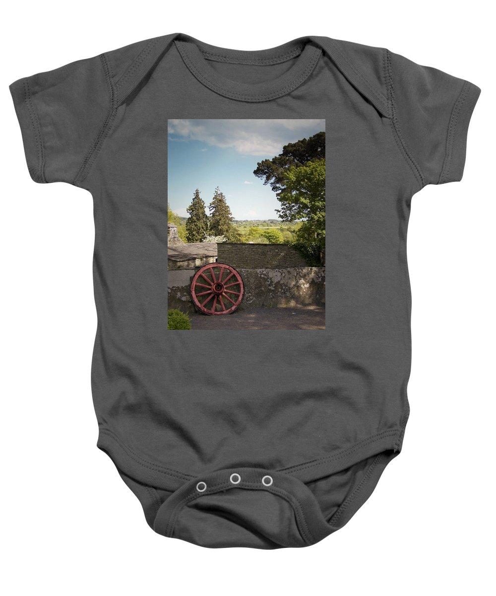 Irish Baby Onesie featuring the photograph Wagon Wheel County Clare Ireland by Teresa Mucha