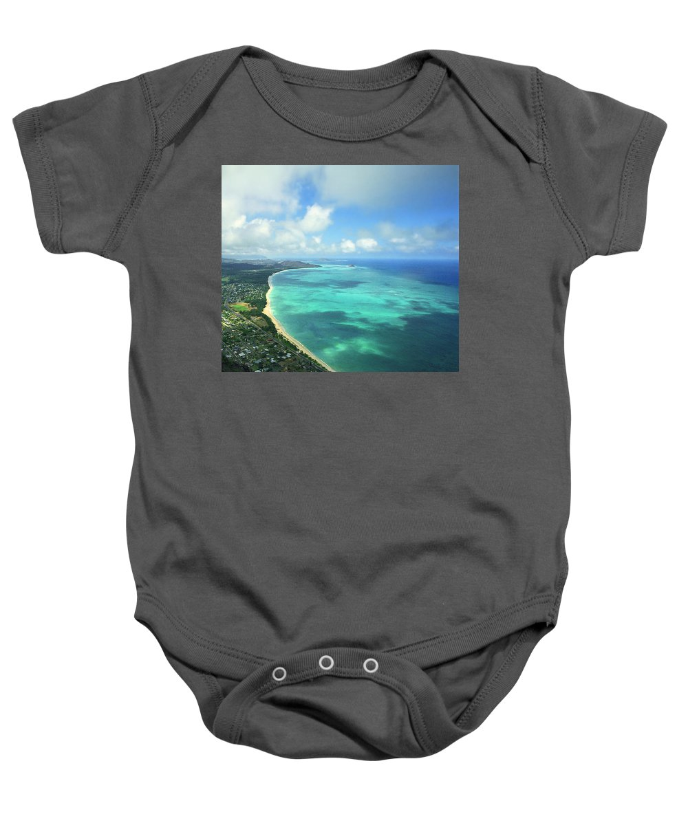 Waimanalo Baby Onesie featuring the photograph Waimanalo Bay by Kevin Smith