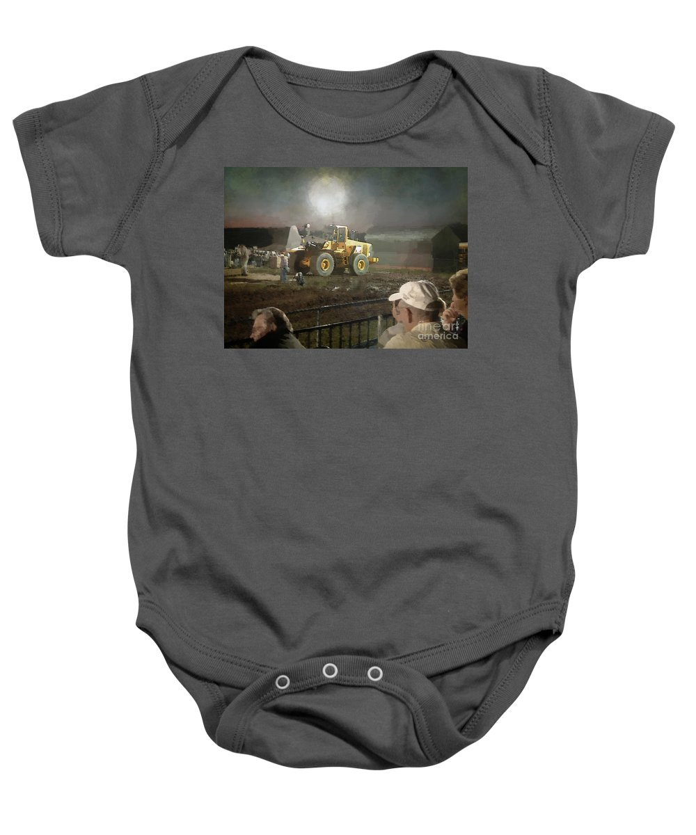 Americana Baby Onesie featuring the painting Waiting For The Pull by RC DeWinter