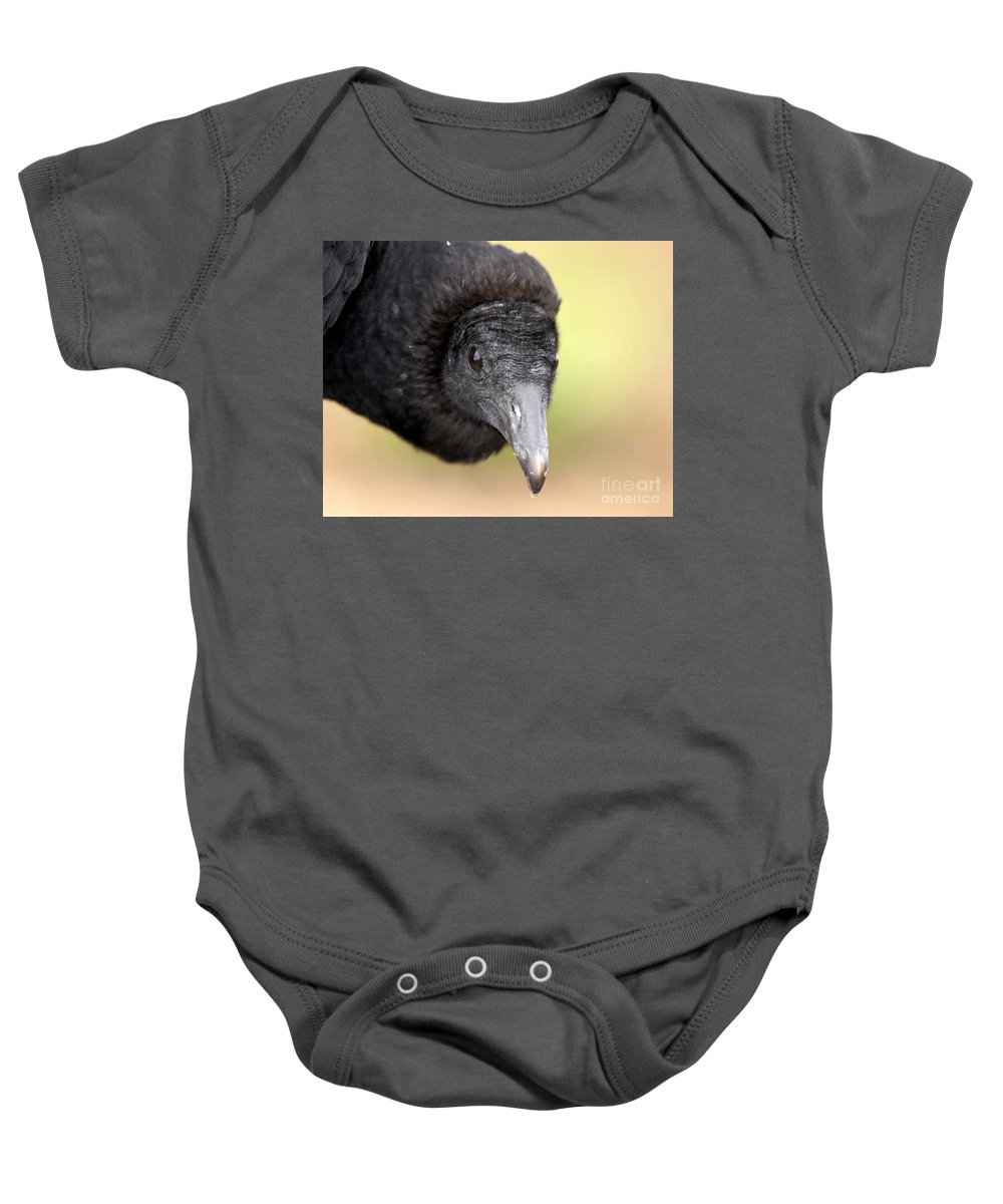 Black Vulture Baby Onesie featuring the photograph Waiting For You by David Lee Thompson