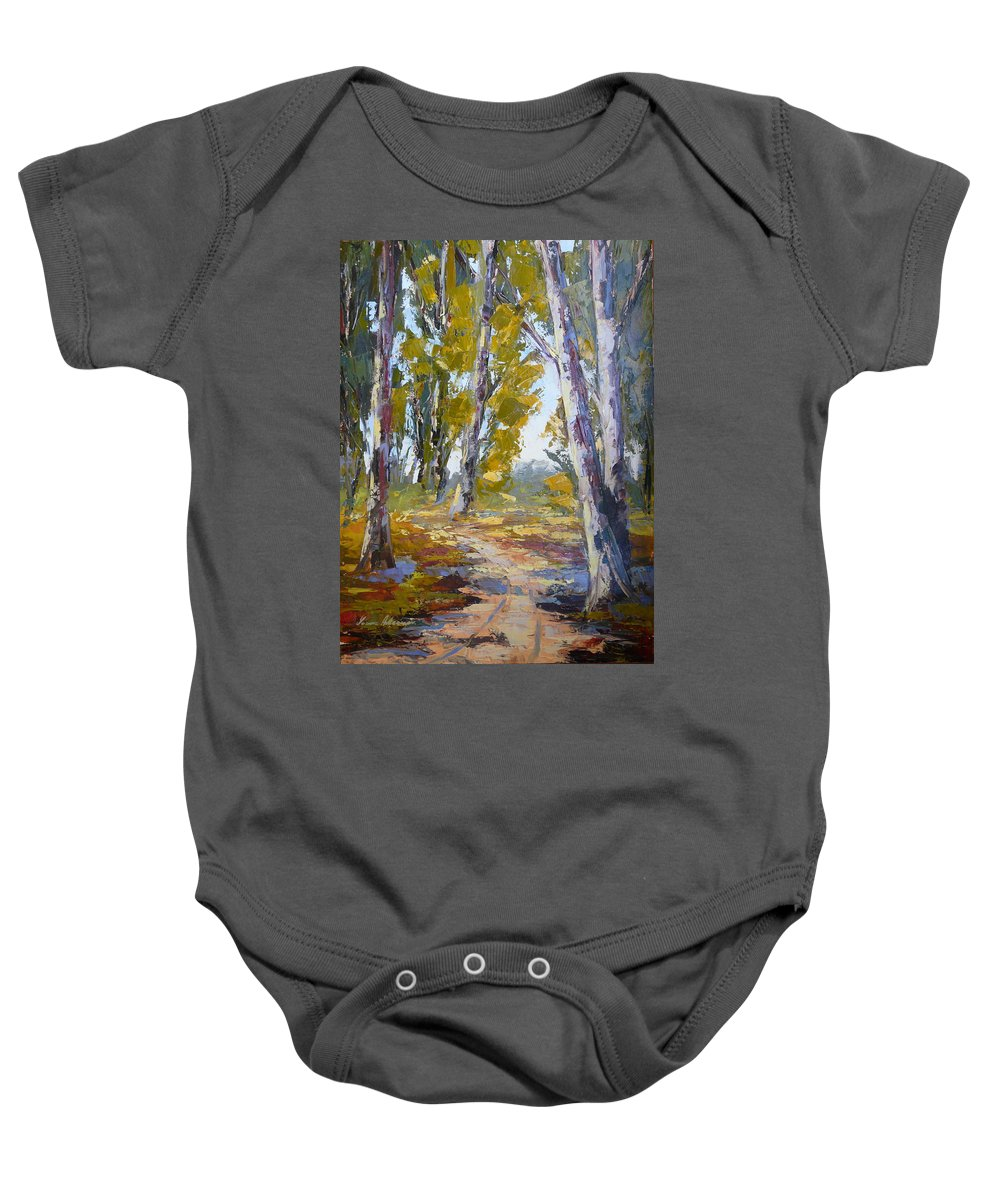 Lanscape Baby Onesie featuring the painting Wakkerstroom Gums by Yvonne Ankerman