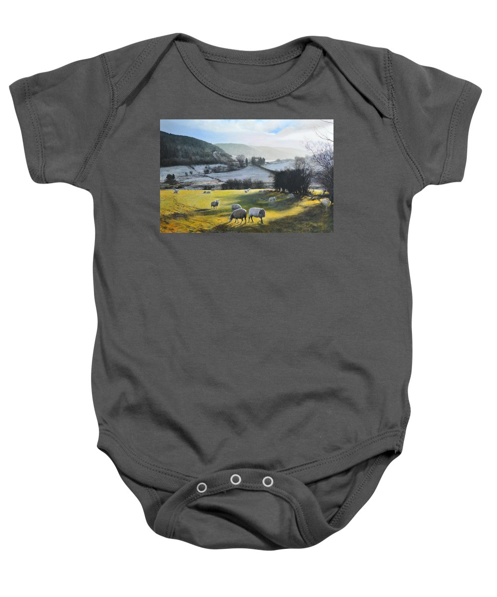 Wales Baby Onesie featuring the painting Wales. by Harry Robertson