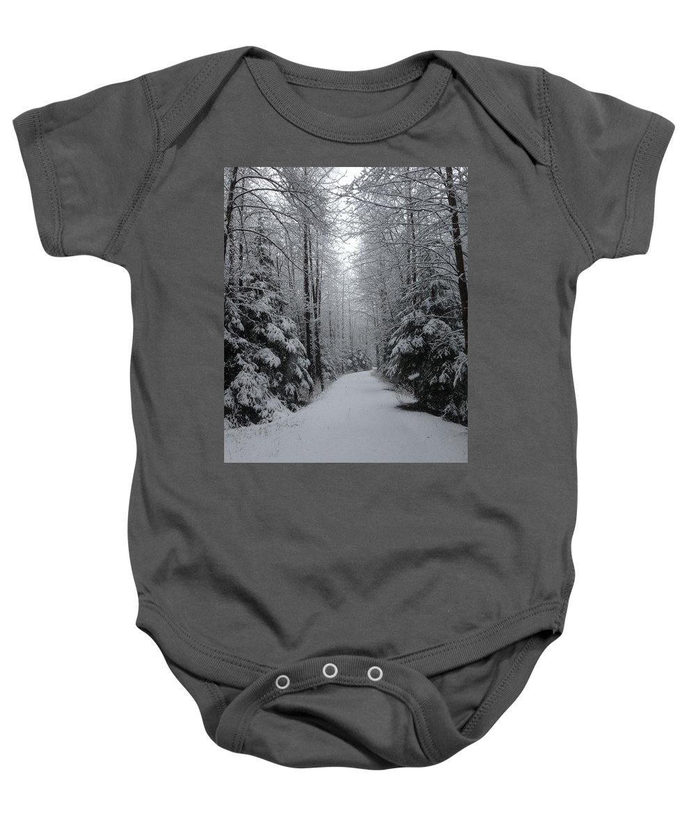 Snow Baby Onesie featuring the photograph Walk With Frost by Erik Roeser