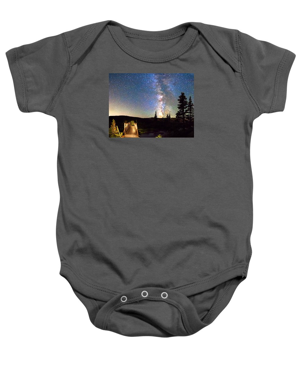 Bridge Baby Onesie featuring the photograph Walking Bridge To The Milky Way by James BO Insogna