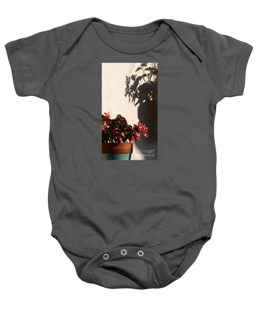 Flower Baby Onesie featuring the photograph Wallflower by Linda Shafer