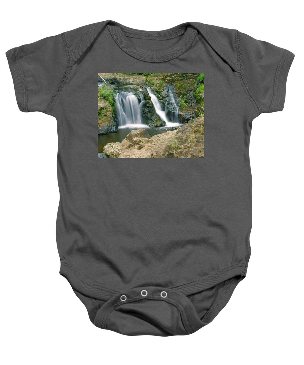 Waterfall Baby Onesie featuring the photograph Washington Falls 3 by Marty Koch