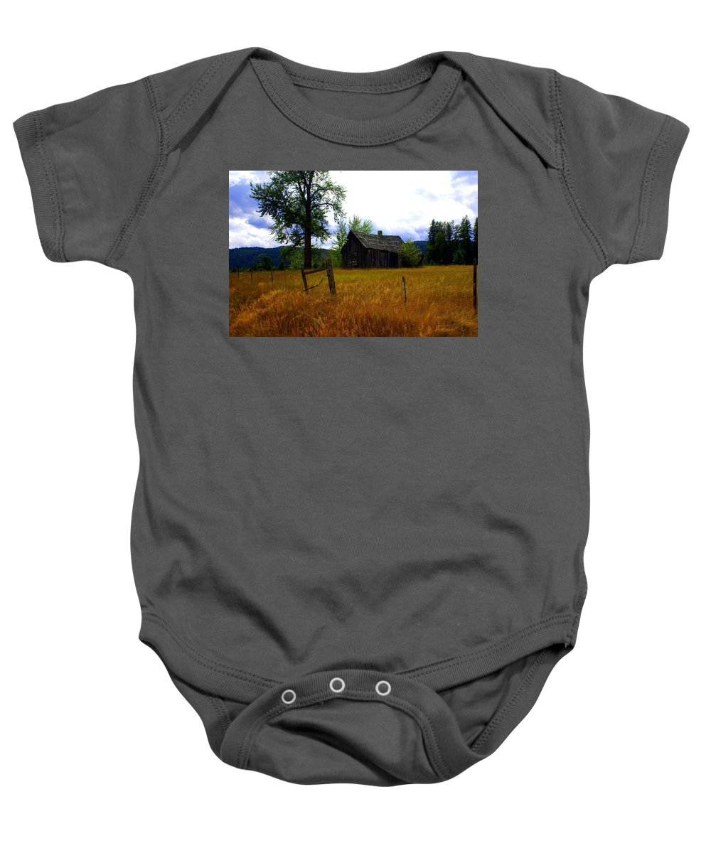 Landscape Baby Onesie featuring the photograph Washington Homestead by Marty Koch