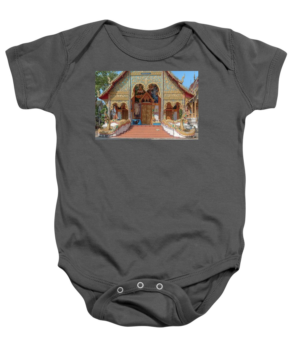 Scenic Baby Onesie featuring the photograph Wat Mae Faek Luang Phra Wihan Entrance Dthcm1876 by Gerry Gantt