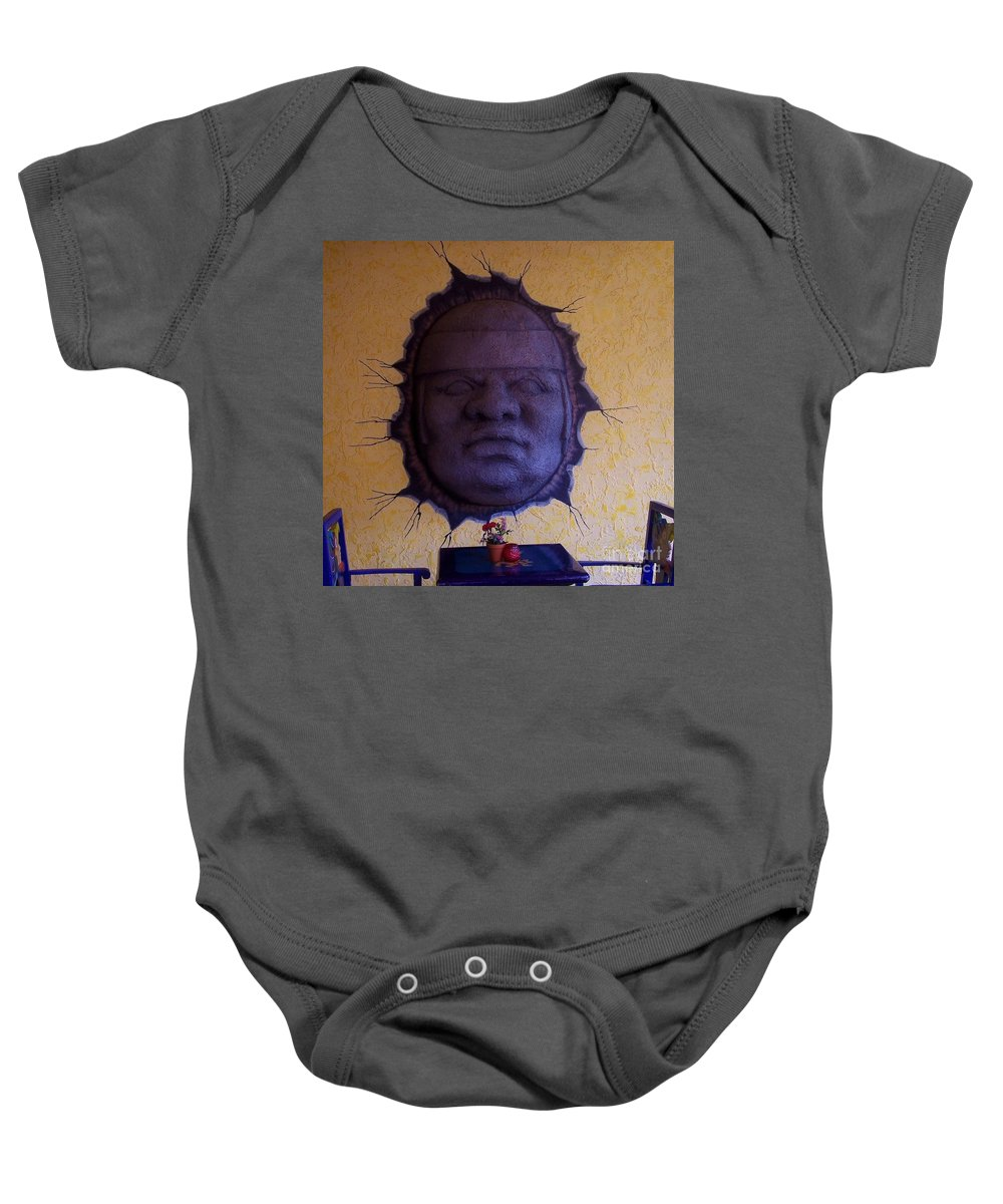 Face Baby Onesie featuring the photograph Watch What You Eat by Debbi Granruth