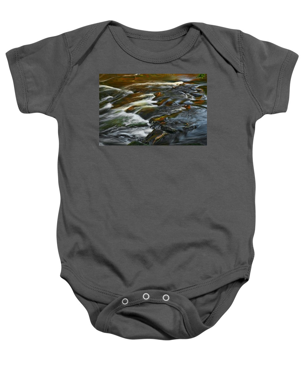 Water Rocks Stream Color Photography Photograph Baby Onesie featuring the photograph Water Colors by Shari Jardina