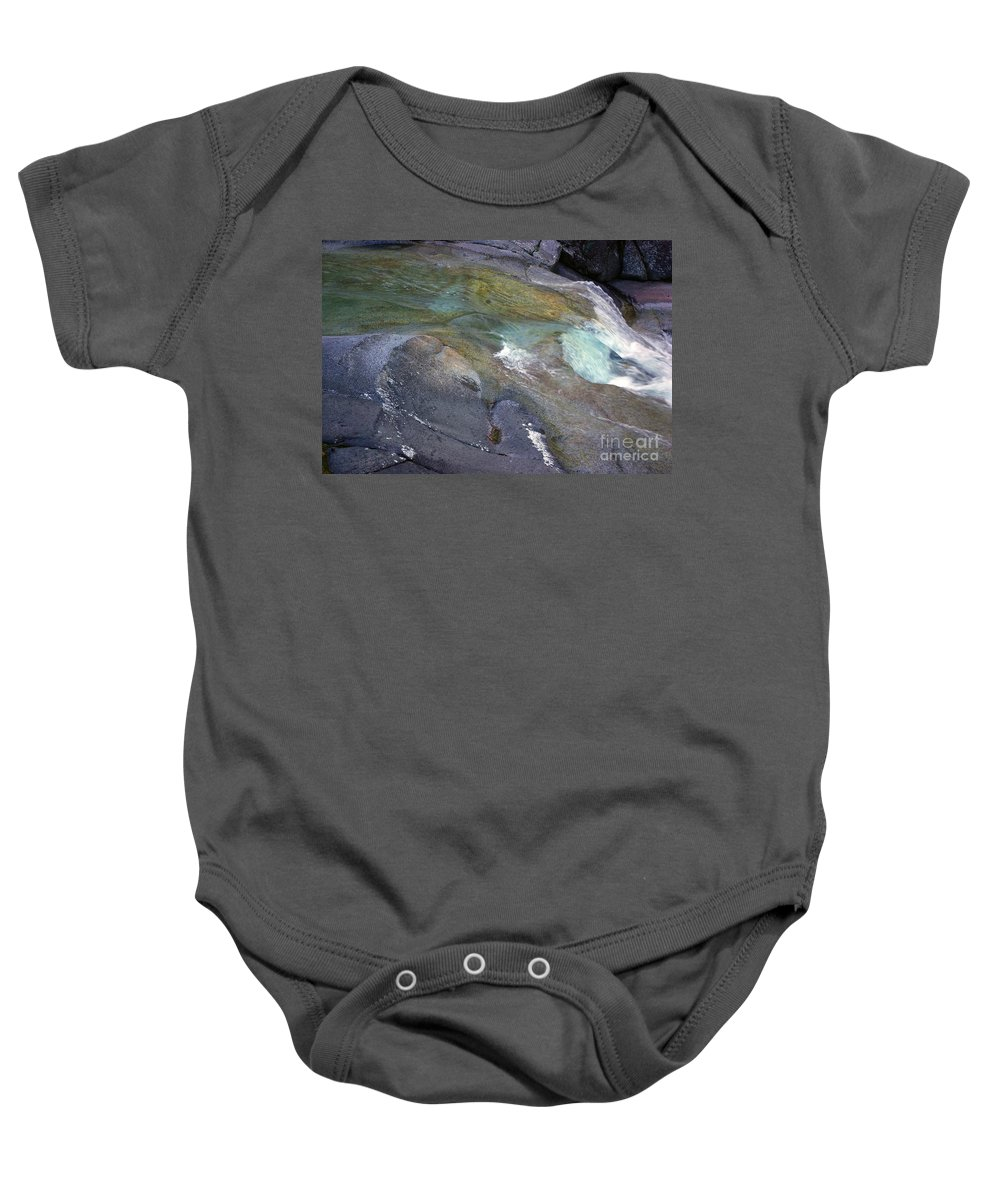 Tropical Baby Onesie featuring the photograph Water Flow by Kerryn Madsen- Pietsch