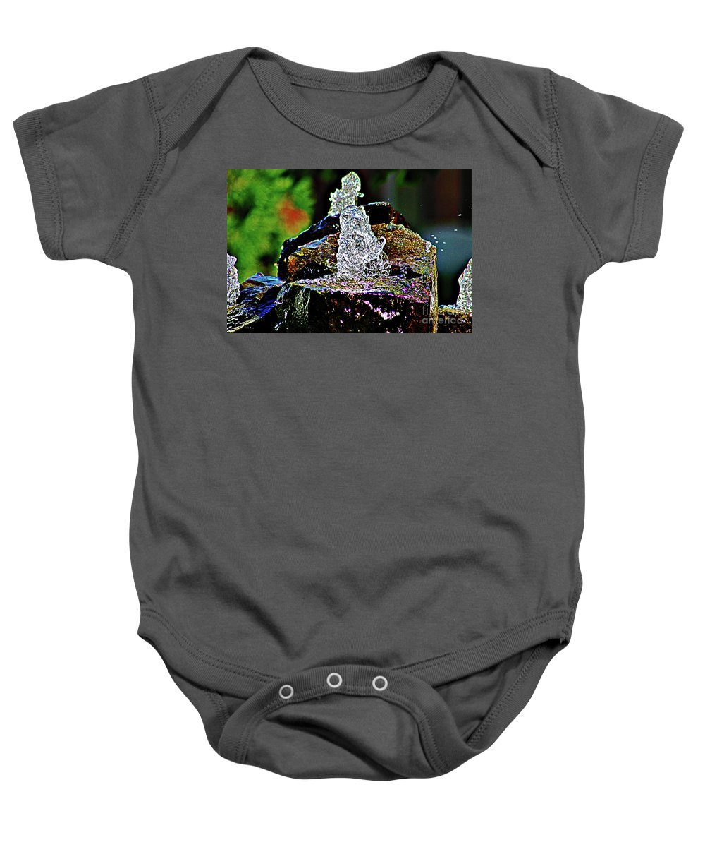 Water Baby Onesie featuring the photograph Water From Stone by Don Baker