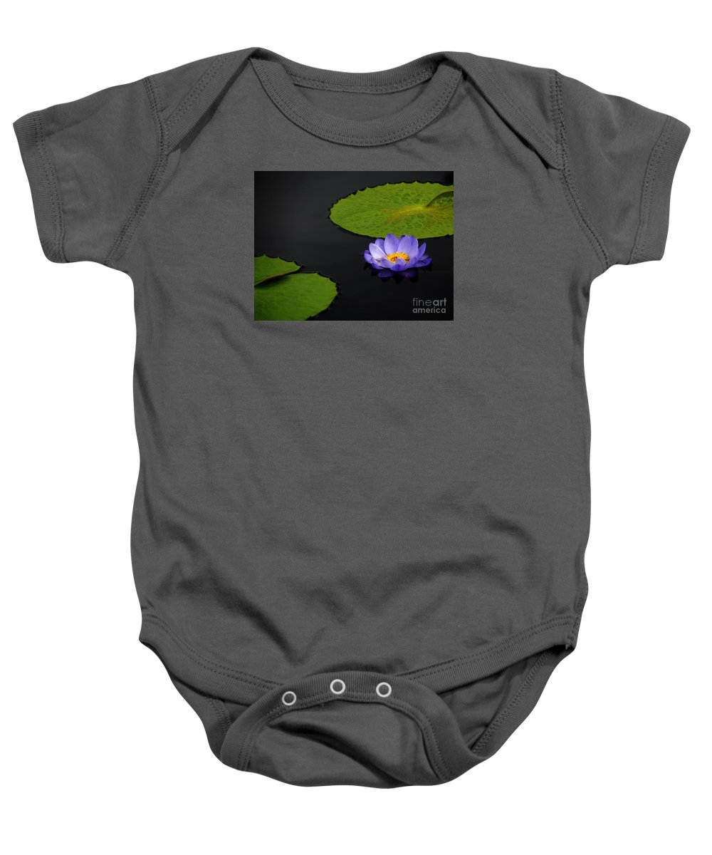 Bradley Baby Onesie featuring the photograph Water Lilies, Aligned by Rich Despins