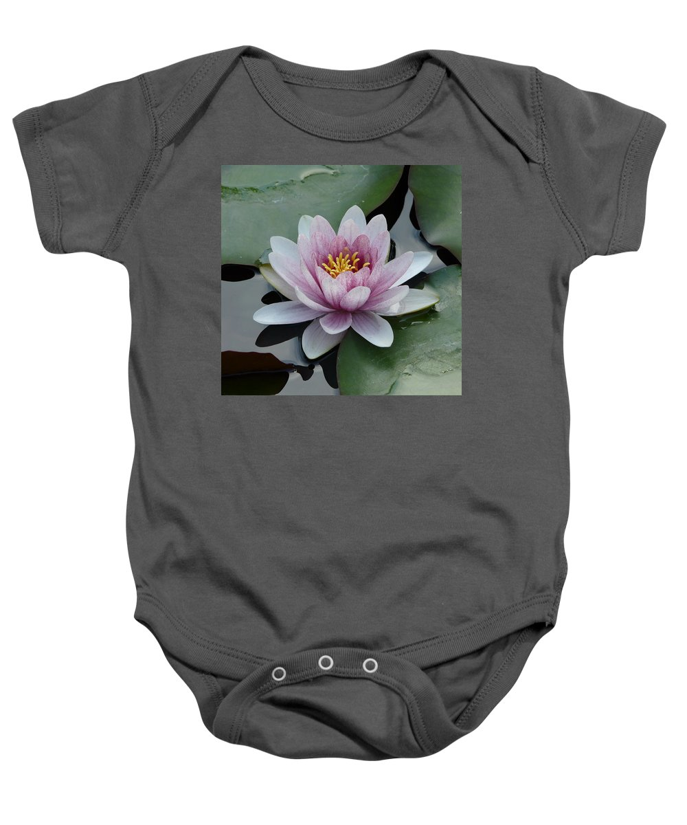 Nature Baby Onesie featuring the photograph Water Lily 1 by Valerie Ornstein