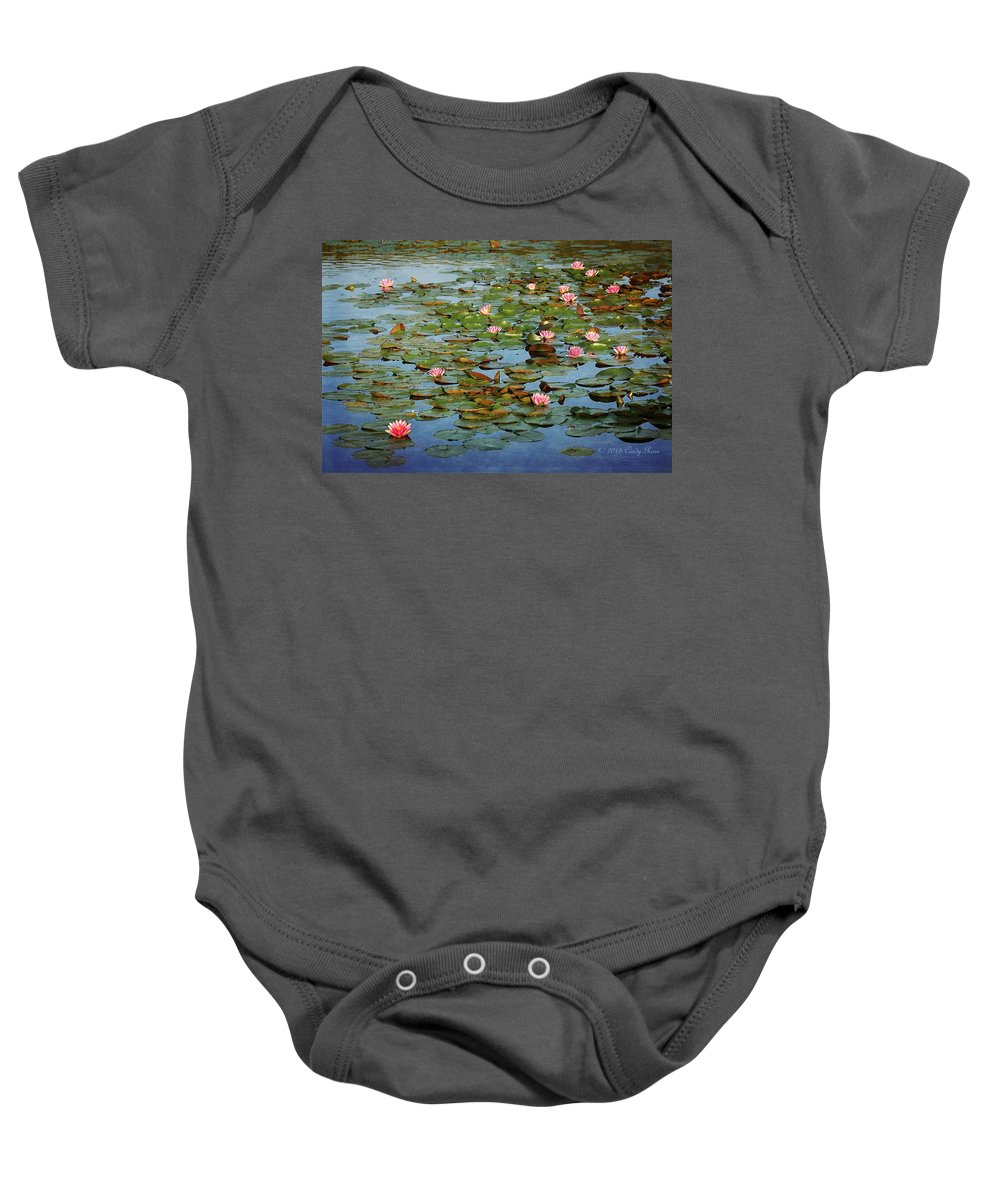 Water Lily Baby Onesie featuring the photograph Water Lily Ballet by Cindy Rose