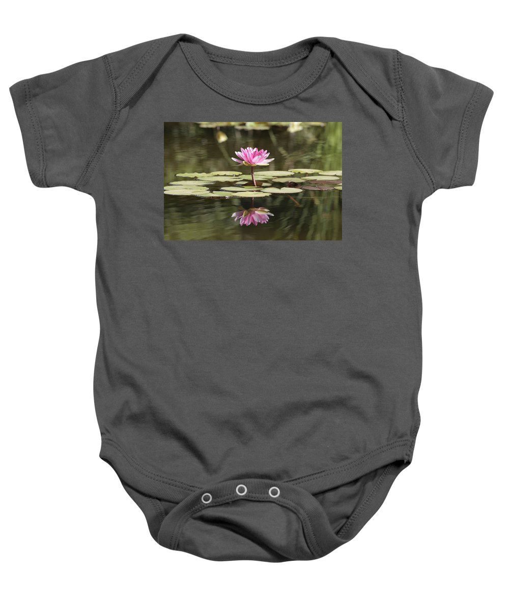 Lily Baby Onesie featuring the photograph Water Lily by Phil Crean