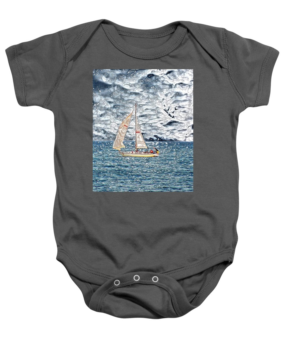 Baby Onesie featuring the digital art Water Marble by Charles Duax