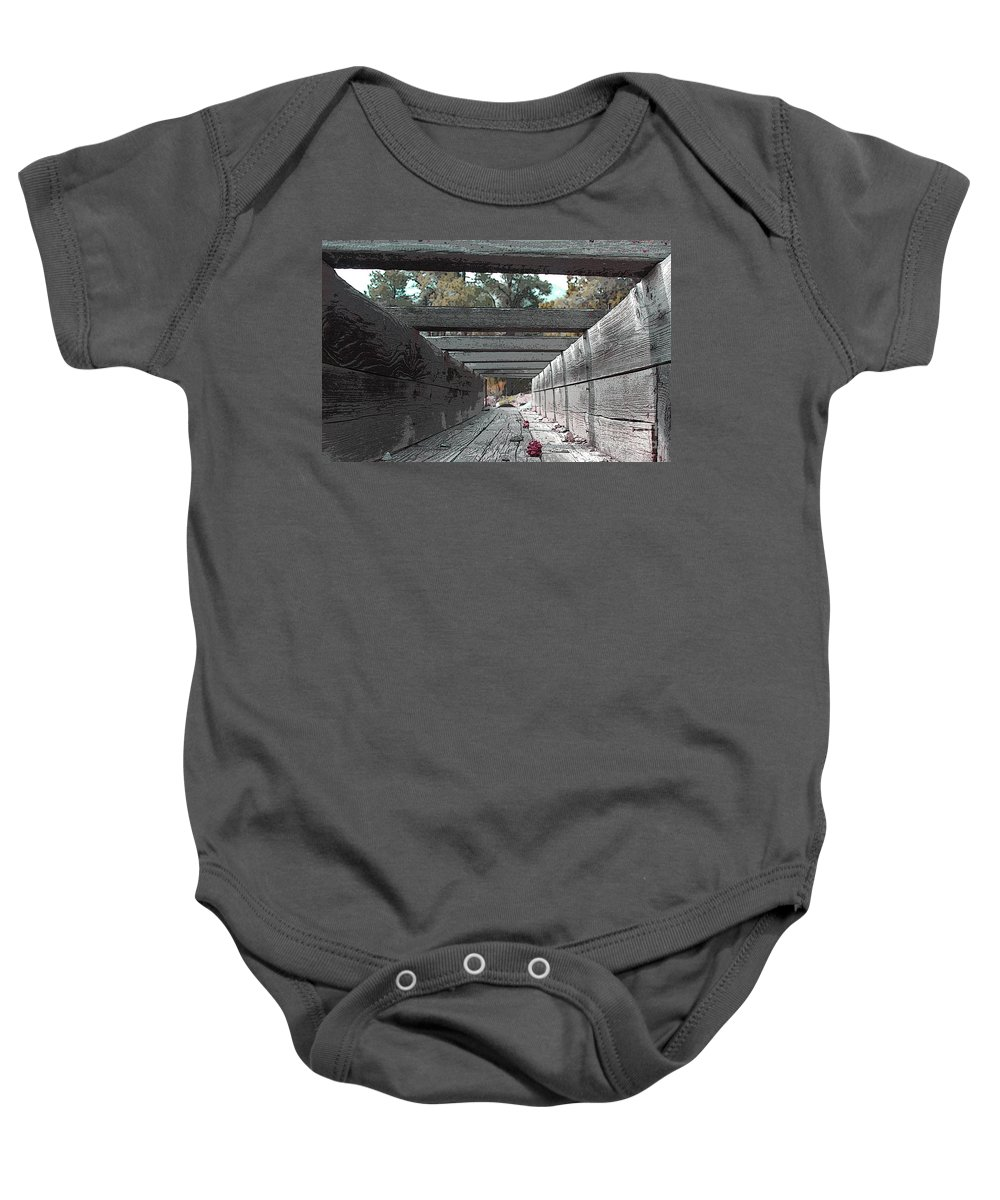 Water Baby Onesie featuring the photograph Water Sluce by Dennis Galloway