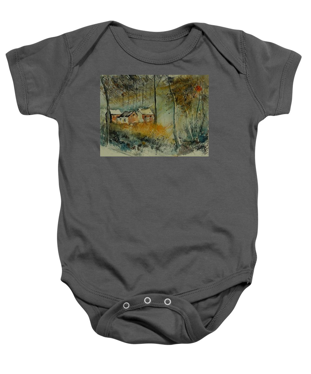 Landscape Baby Onesie featuring the painting Watercolor 900170 by Pol Ledent