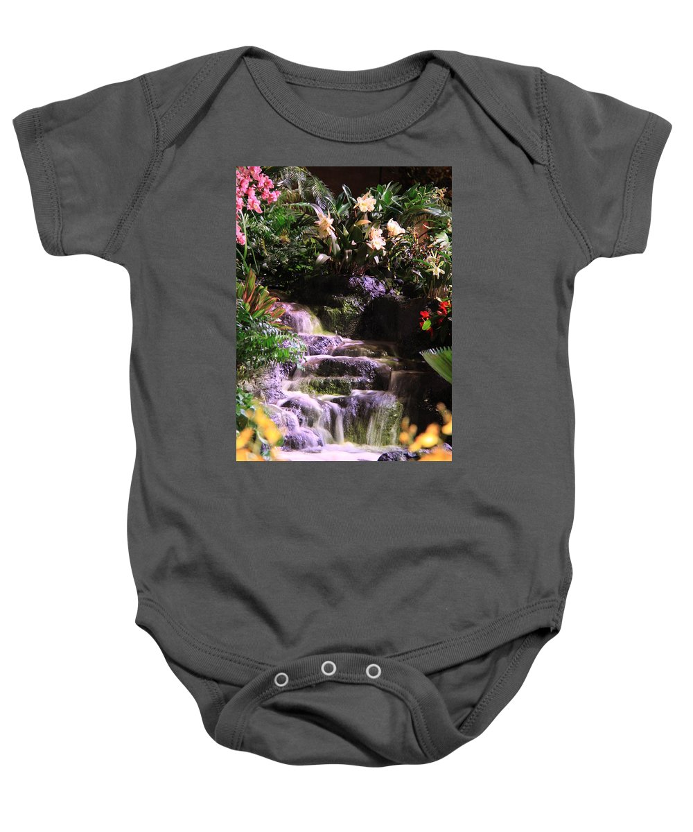 Waterfall Baby Onesie featuring the photograph Waterfall by Nicole Dunkelberger