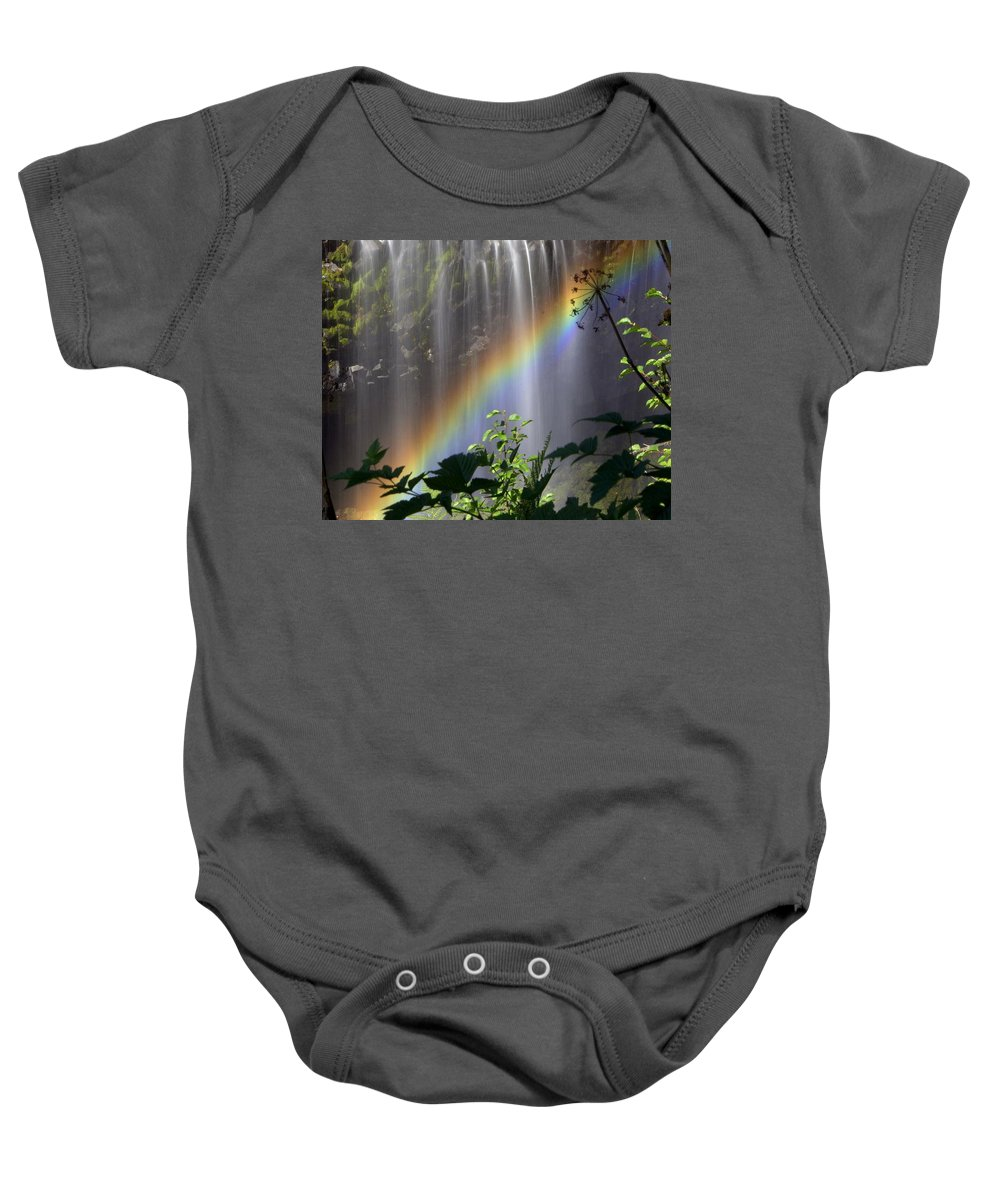 Waterfall Baby Onesie featuring the photograph Waterfall Rainbow by Marty Koch