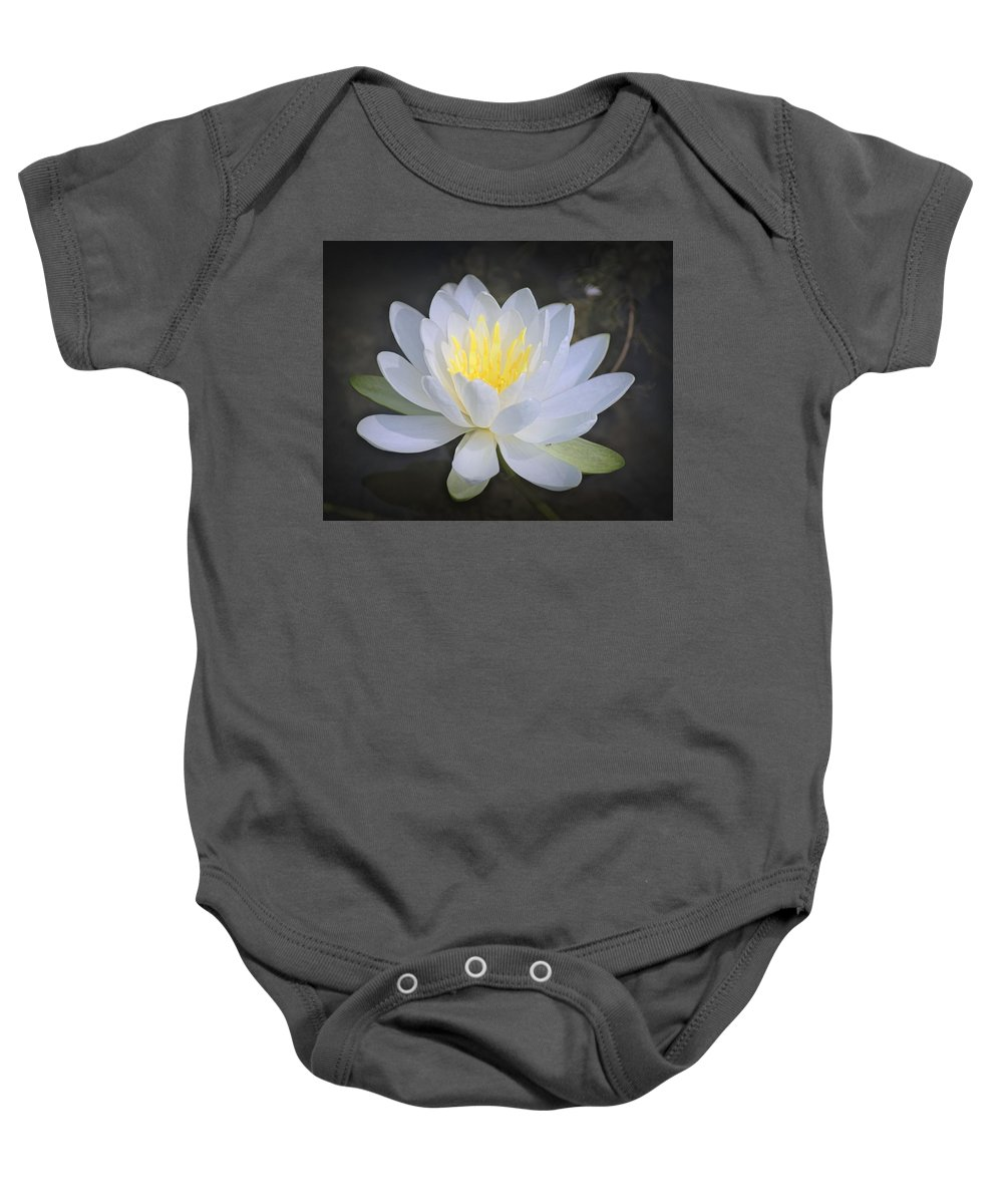 Waterlily Baby Onesie featuring the photograph Waterlily by Carol Deltoro