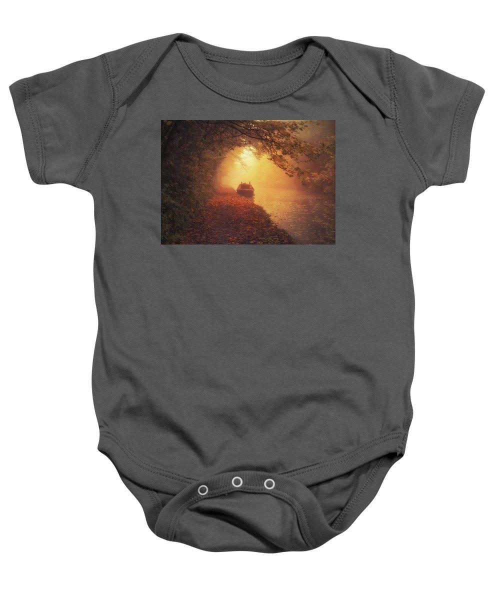 5x7 Baby Onesie featuring the photograph Waterway Sunrise by Chris Fletcher