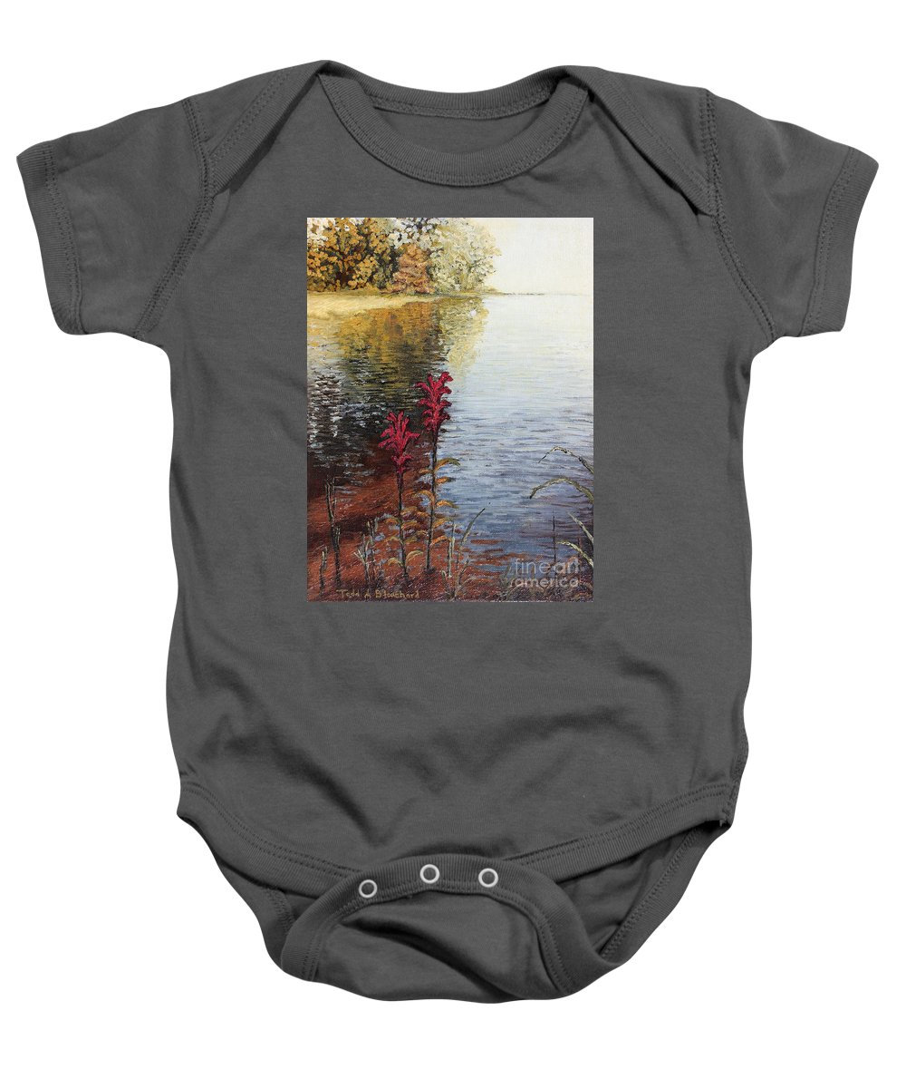 Landscape Baby Onesie featuring the painting Watts Bar Lake Rockwood Tn by Todd Blanchard