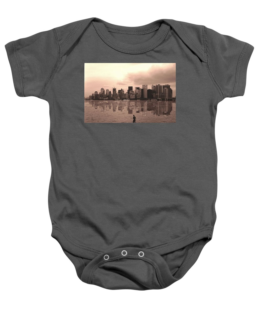 Photo Baby Onesie featuring the photograph We Are Watched by Enrique Crusellas