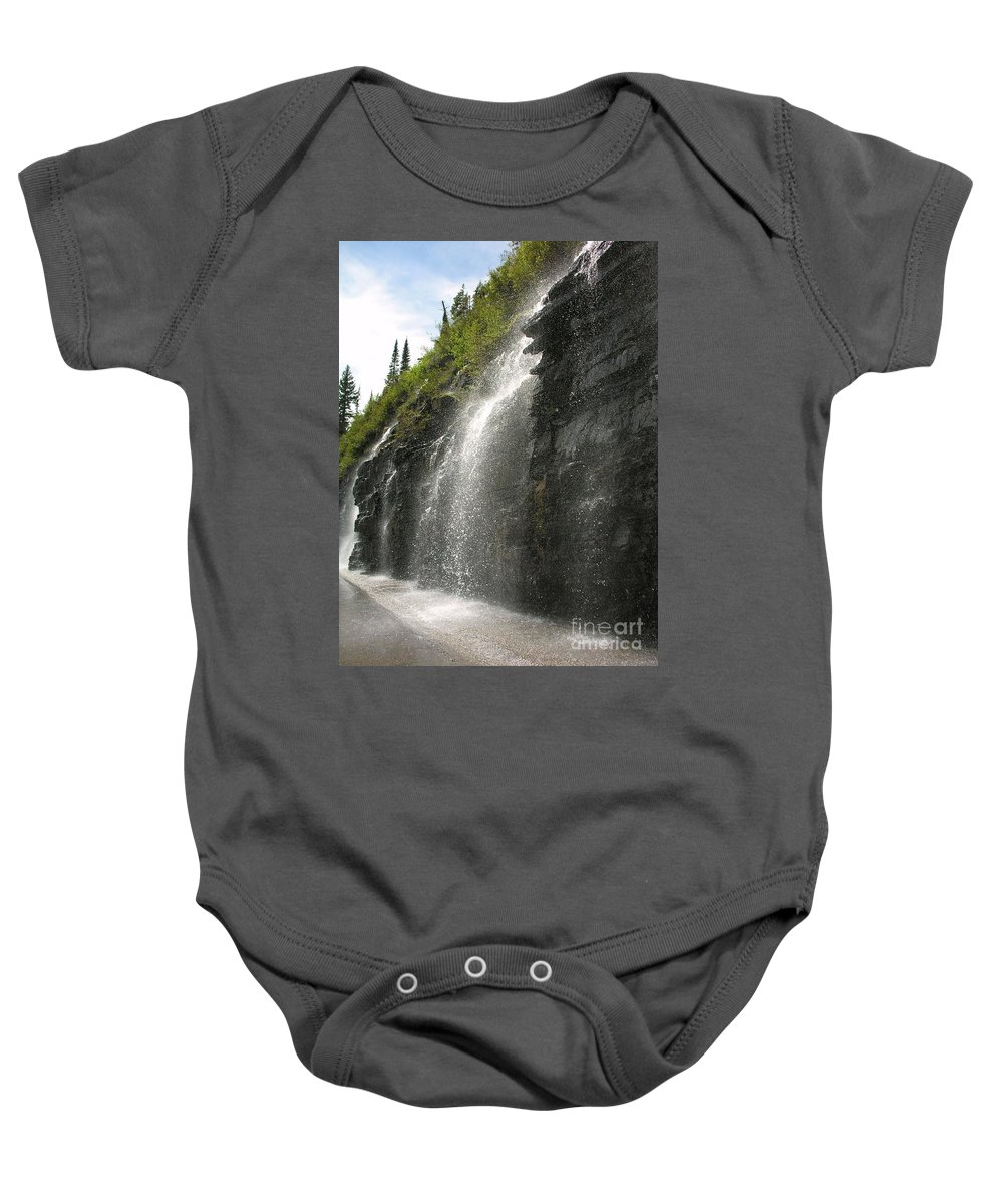 Weeping Baby Onesie featuring the photograph Weeping Wall by Diane Greco-Lesser