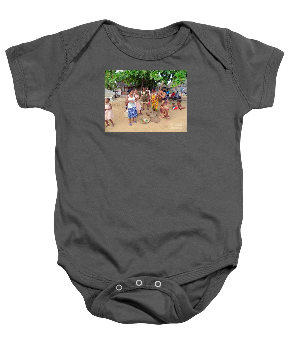 Nosy Be Baby Onesie featuring the photograph Welcome Committee by John Potts