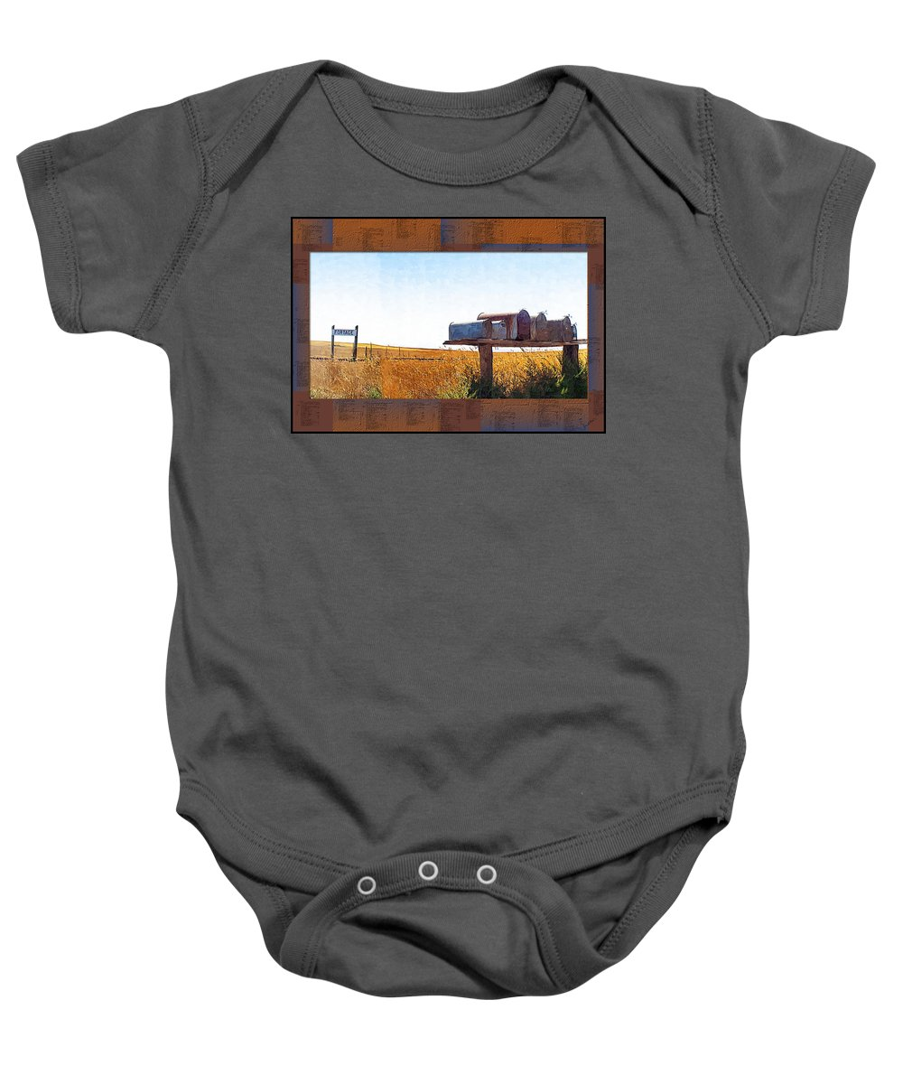 Railroad Baby Onesie featuring the photograph Welcome To Portage Population-6 by Susan Kinney