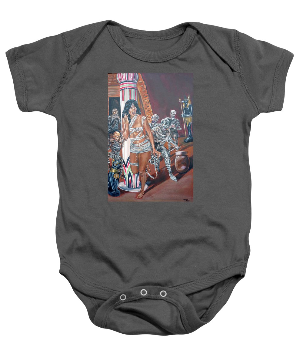 Egypt Baby Onesie featuring the painting Well Preserved by Bryan Bustard