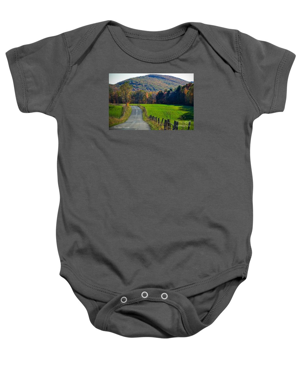 West Virginia Mountain Landscape Baby Onesie featuring the photograph West Virginia Autum On Sandy Ridge by Teena Bowers